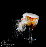 Kapot geschoten bierglas - Affligem - high speed fotografie - Door: Ellen Reus - Wolves fotografie