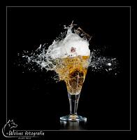 Kapot geschoten glas Alfa Edel Pils - high speed fotografie - Door: Ellen Reus - Wolves fotografie