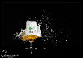 Kapot geschoten Grolsch glas - high speed fotografie - Door: Ellen Reus - Wolves fotografie