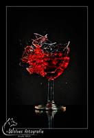 Kapot geschoten wijnglas - high speed fotografie - Door: Ellen Reus - Wolves fotografie